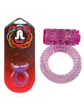 Anillo Vibrador Power Ring Bubbles lila1
