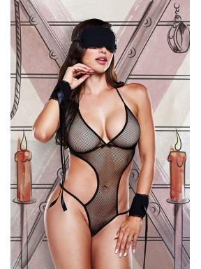 Disfraz Body de Bondage Negro