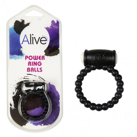 Anillo Vibrador Power Ring Symbol negro