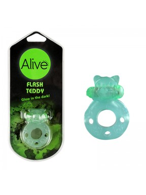 Anillo Vibrador Flash Teddy verde1