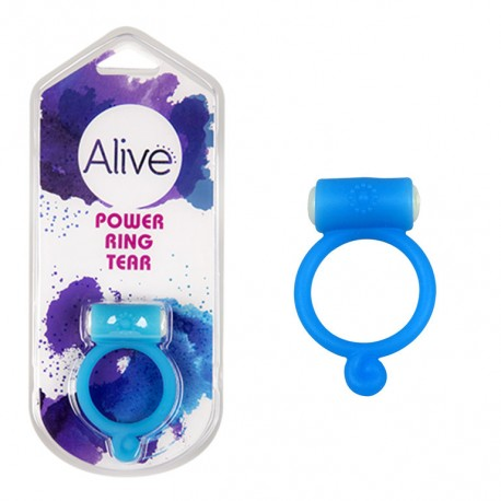 Anillo Vibrador Power Ring Tear azul