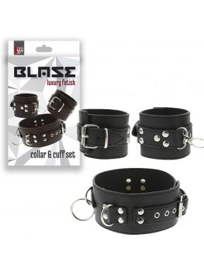 Kit de 3 piezas Collar y Esposas BLAZE