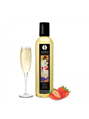 Aceite de masaje Erótico ROMANCE FRESAS con CAVA