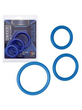 Set de anillas MENZSTUFF azul