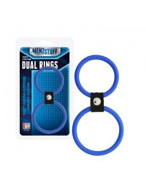 Anilla MENZSTUFF Dual Rings azul