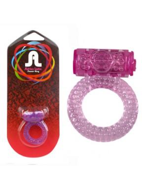Anillo Vibrador Power Ring Bubbles lila
