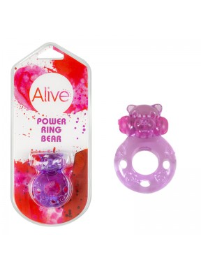 Anillo Vibrador Power Ring Bear lila1