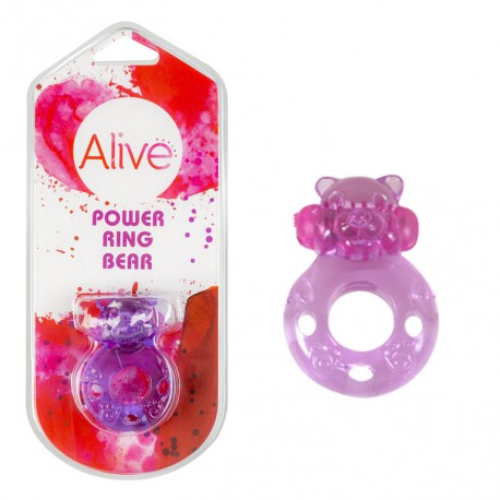 Anillo Vibrador Power Ring Bear lila