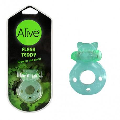 Anillo Vibrador Flash Teddy verde