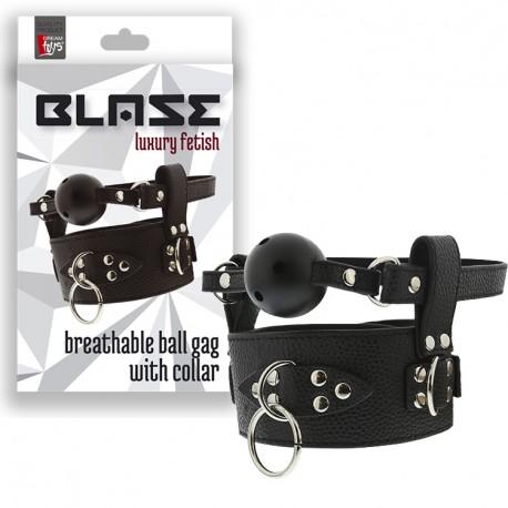Mordaza negra Transpirable con Collar BLAZE