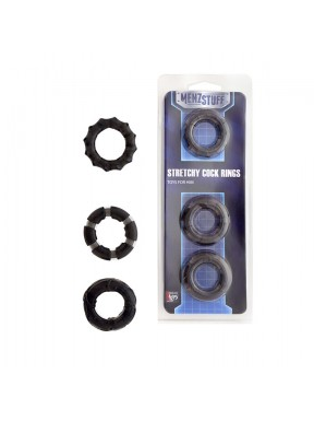 kit 3 Anillas Menzstuff STRETCHY-negras