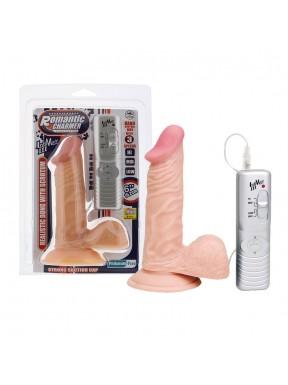 Vibrador Realístico con Succión ROMANTIC CHARMER