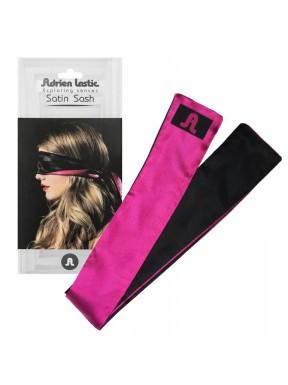 Cinta-Satin-Sash-negro-rosa
