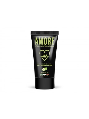 Lubricante base de Agua Manzana Verde AMORE 75 ml.