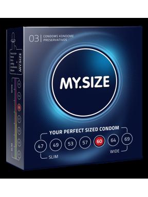 Preservativo 3 und. My size 60mm