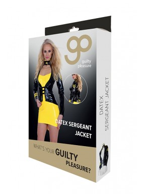 Chaqueta Disfraz de Sargento GP Datex negro-amarillo