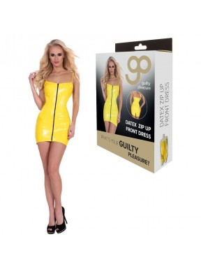 Mini Dress Cremallera Frontal GP Datex amarillo-4