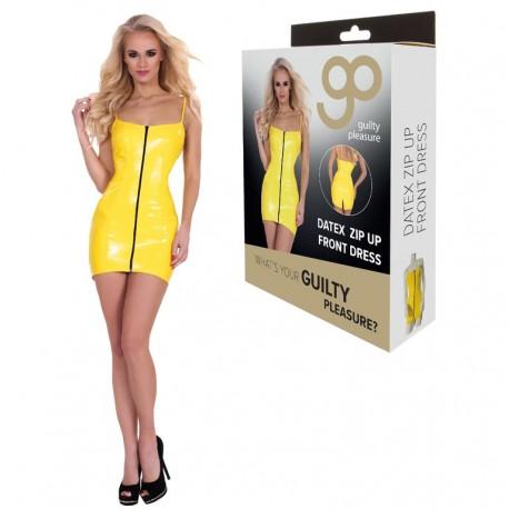 Mini Dress Cremallera Frontal GP Datex amarillo-4