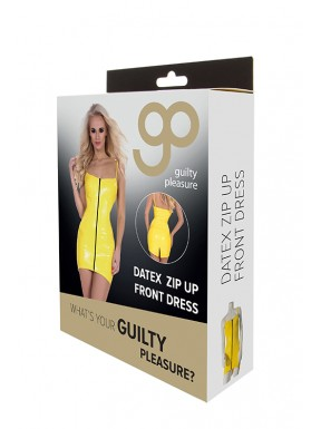 Mini Dress Cremallera Frontal GP Datex amarillo