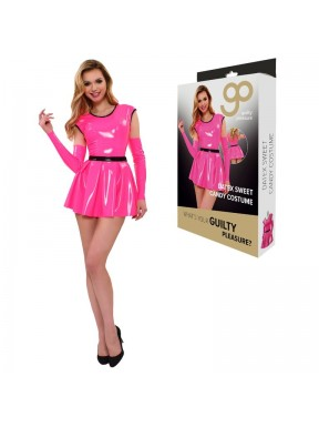 Vestido con Mangas GP Datex rosa-4