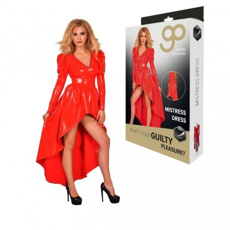 Vestido largo con Mangas GP Datex rojo-2