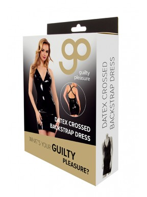 Vestido Ajustado Crossed GP Datex negro-4