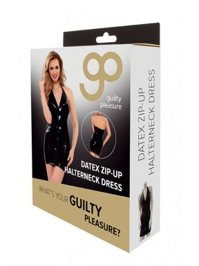 Vestido Ajustado Zip-Up GP Datex negro