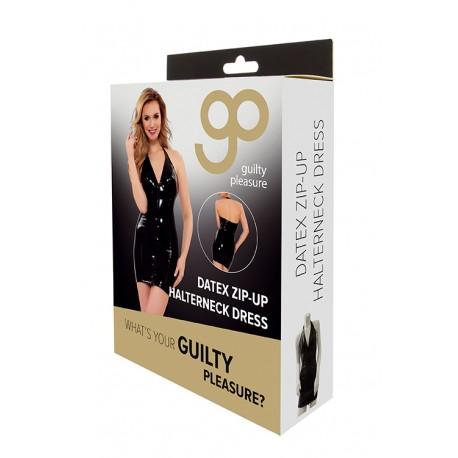 Vestido Ajustado Zip-Up GP Datex negro-4