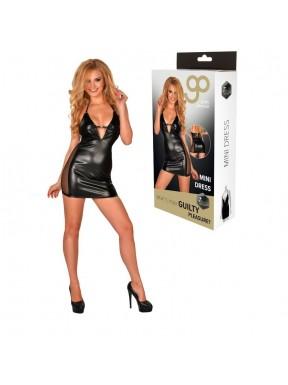 Mini Vestido GP Wet Look negro-3