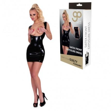 Vestido Ajustado Exposición Frontal GP Datex negro