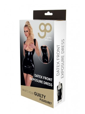 Vestido Ajustado Exposición Frontal GP Datex negro-4