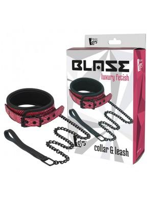 Collar con cadena Blaze rosa