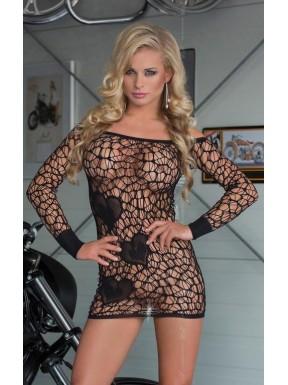 Mini Dress SWEETHEART negro