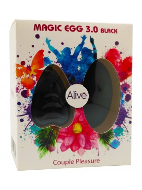 Huevo Vibrador Magic Egg 3.0 con mando a distancia-negro