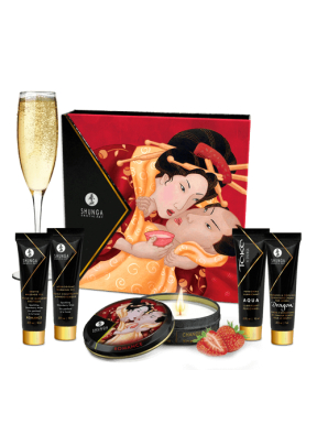 Kit Sensual Geishas Secret Fresas con Cava