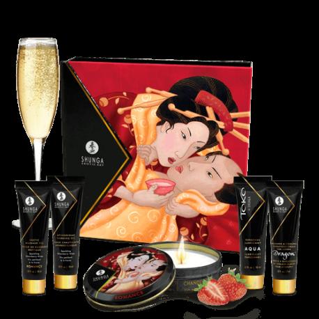 Kit Sensual Geishas Secret Fresas con Cava