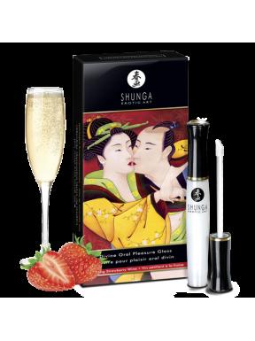 Placer Oral Brillo de Labios Fresas con Champagne