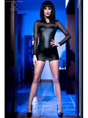Mini vestido Leatherlook 4034