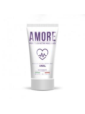 Lubricante base de Agua AMORE ANAL 75 ml.
