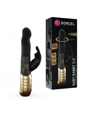 Vibrador doble GOLD BABY RABBIT 2.0