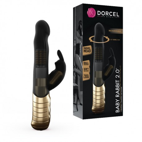 Vibrador doble GOLD BABY RABBIT 2.0