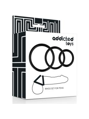 Kit 3 Anillas para el Pene ADDICTED TOYS
