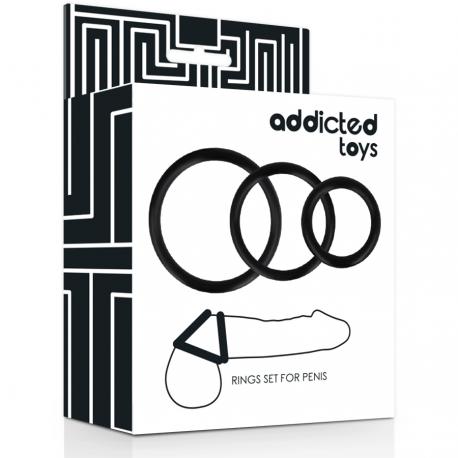 Kit 3 Anillas para el Pene ADDICTED TOYS-1