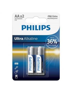 Pilas AA PHILIPS Ultra Alkaline