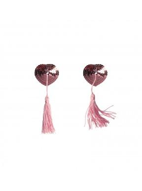 Pezoneras Lentejuelas Corazón Pompón GIPSY Rosa