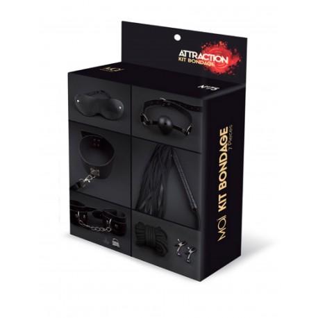 Kit 7 piezas BDSM MAÏ Nº75 negro
