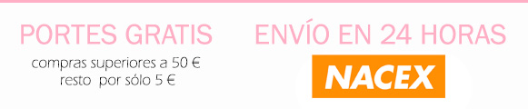 Envñio gratis con Nacex a partir de 50€