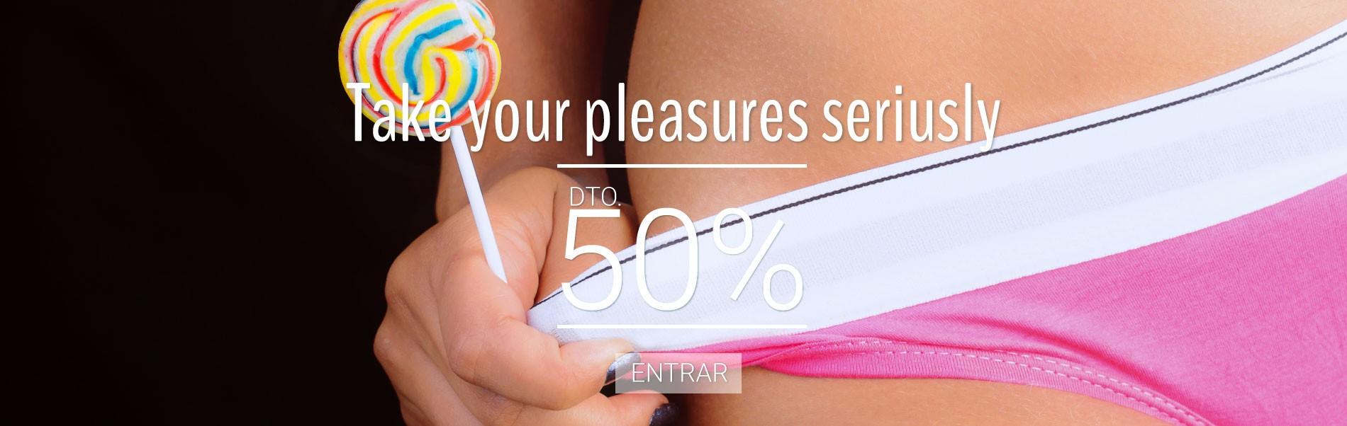 Pleasure toys al 50% de descuento